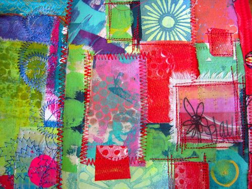 patchwork art quilt by traci bautista