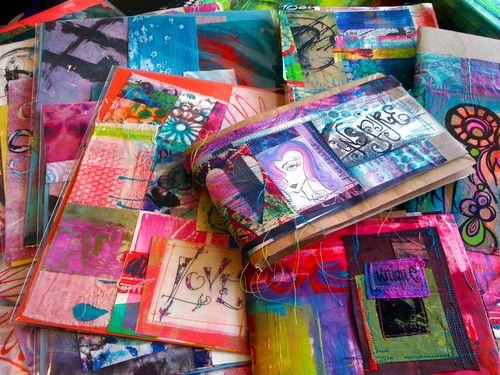 my ETSY shop..collage kits and handmade art journals