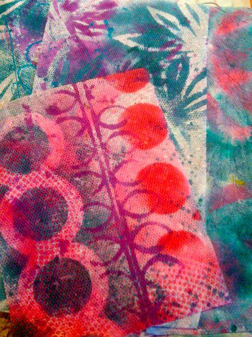 buzz & bloom monoprints