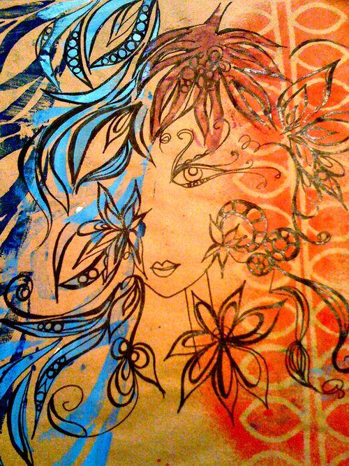 girlie glam doodle