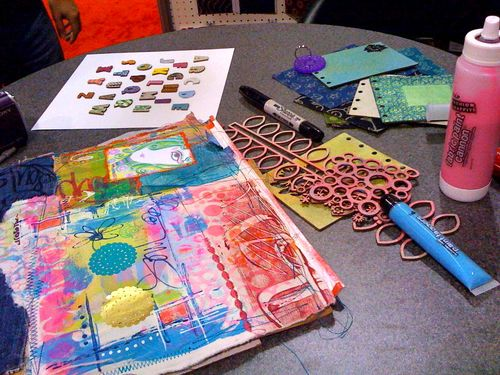 art journaling with Traci Bautista