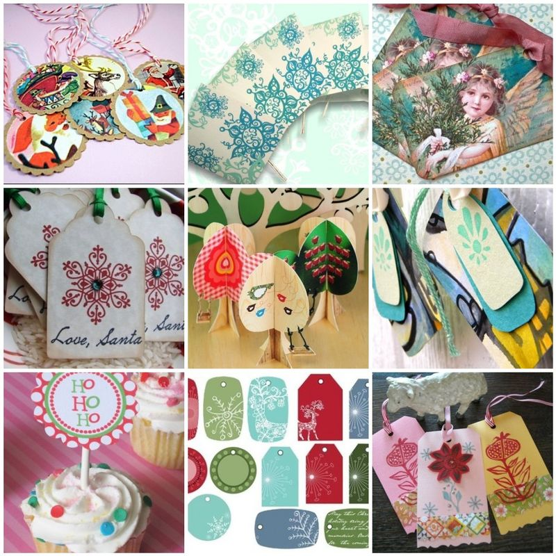 holiday gift tags on ETSY