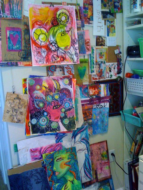 one of my studio walls