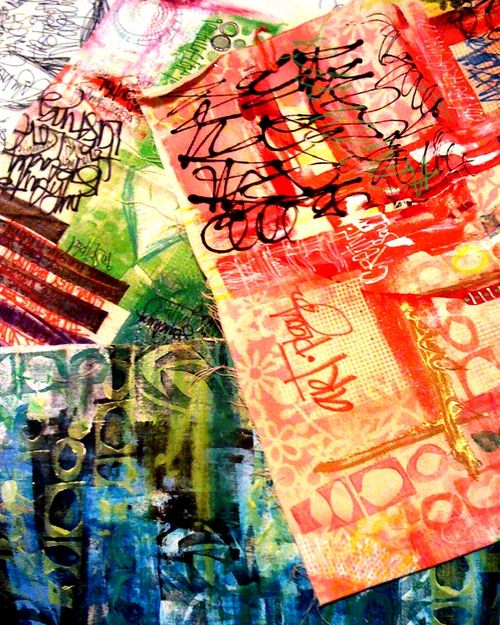 GraffitiINSCRIPTIONS canvases by traci bautista