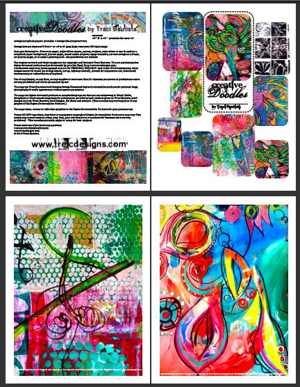 creative DOODLES digital art kit