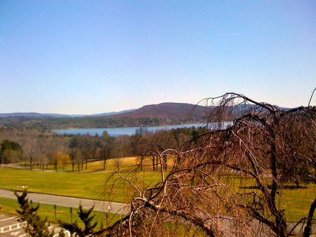 the view from my room at Kripalu