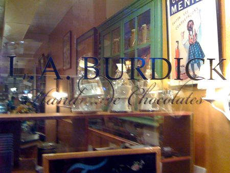 L.A. Burdick in Cambridge...yummy HOT COCOA