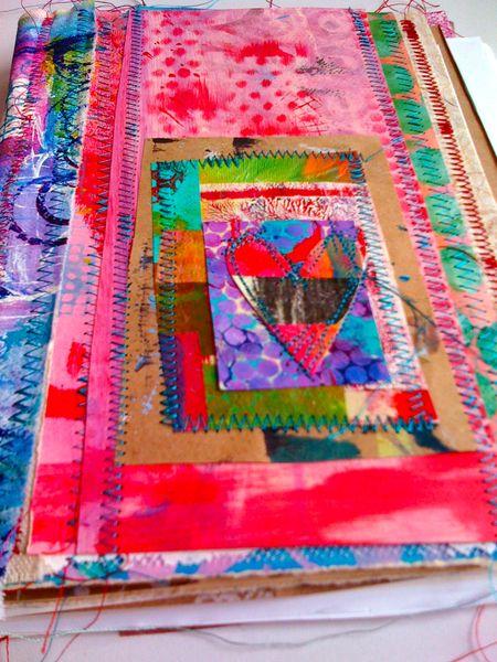 art journal patchwork collage