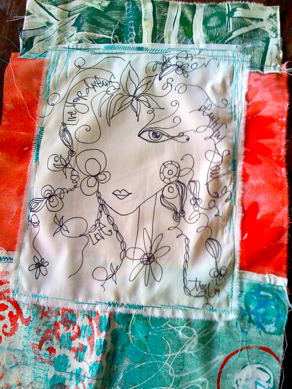 girlie glam art quilt