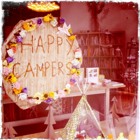 happy campers window at the urban craft center