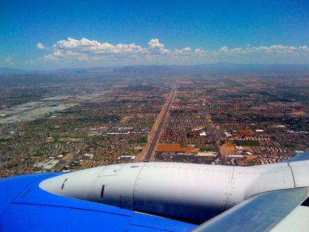 up in the air over phoenix