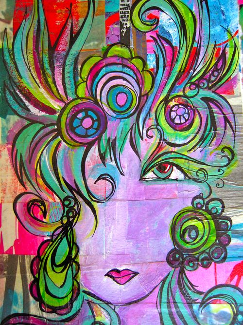 graffiti GLAM collage