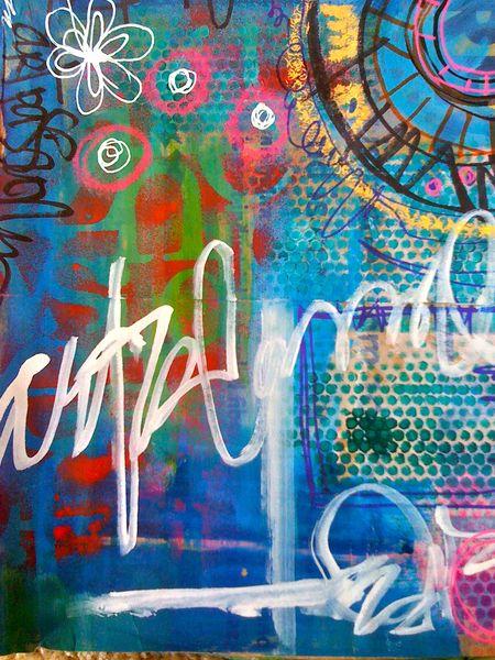paintig...collage...doodling fun!