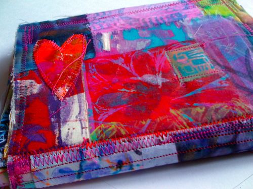 LOVE flowers patchwork art journal