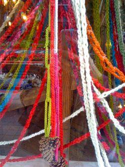 crochet chain garland