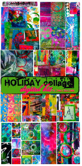 Pages From The HOLIDAY Special Edition Collage Digital Kit This Download Is Loaded With 14 Of Colorful Papers To Use In All Your Holiday