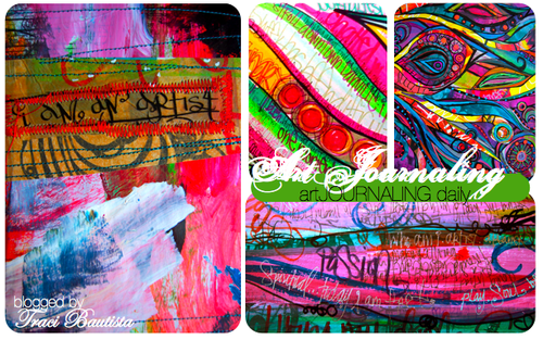 art journal pages by traci bautista