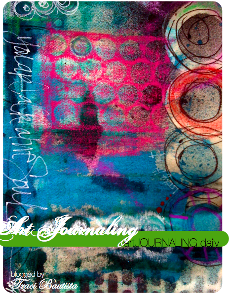 artJOURNALING daily painted rubbing circles by traci bautista