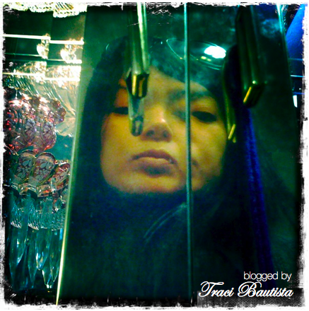my reflection self portrait in the antique store