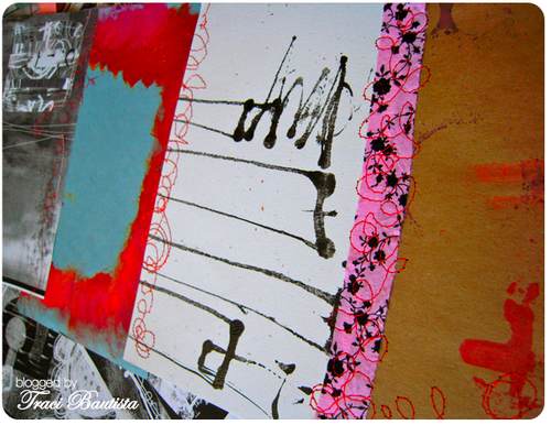 stitched art journal pages by traci bautista