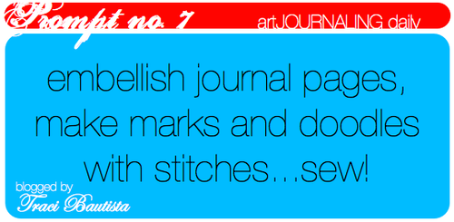 artJOURNALING daily prompt no. 7