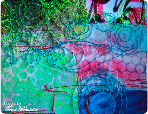 fabric collage & free motion by traci bautista
