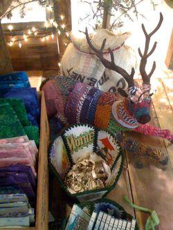 fiber wrapped reindeer