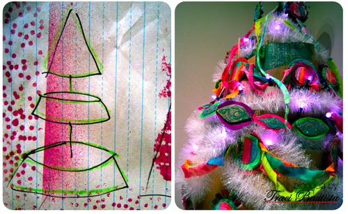 recycled cardboard Christmas tree by traci bautista