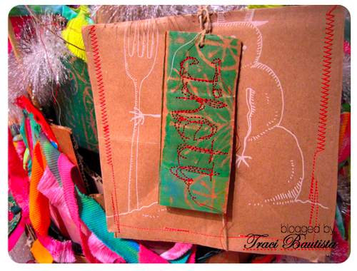 recycled gift envelopes grocery bags by traci bautista
