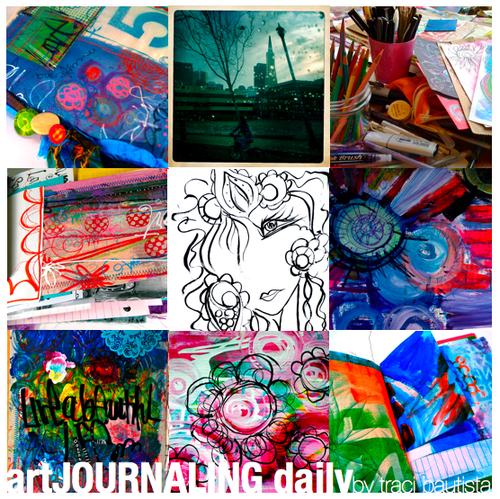 art JOURNALING daily with traci bautista