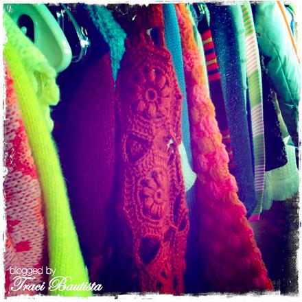 crochet & striped sweaters