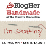 BlogHer Handmade11_Speaking
