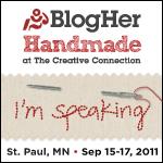 BlogHer Handmade11_Speaking