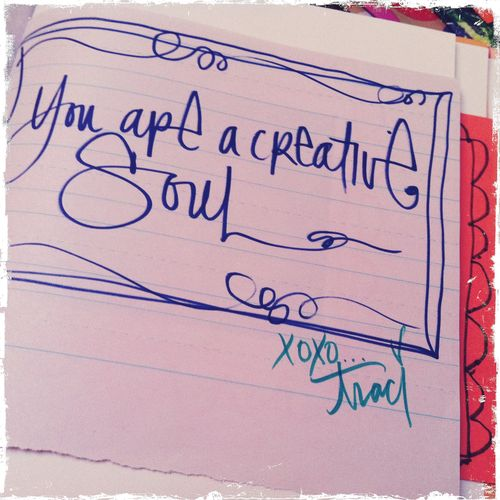 you are a creative soul