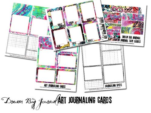 DREAM BIG journal cards preview