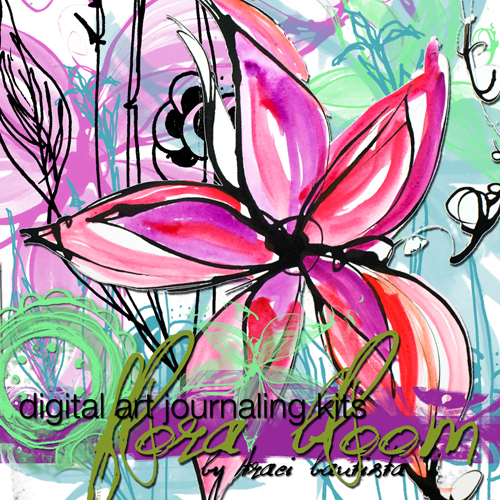 FloraBLOOM digital art journaling kit by traci bautista72