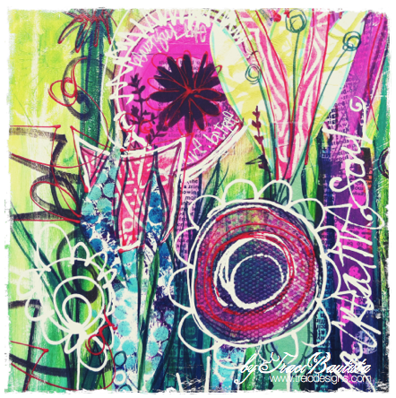 graffiti bouquet project in Doodles Unleashed