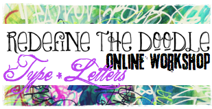 redefine the doodle type letters by traci bautista