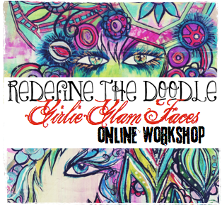 REDEFINE the doodle: girlie glam faces by traci bautista