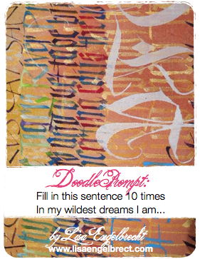 lisa's doodle prompt card