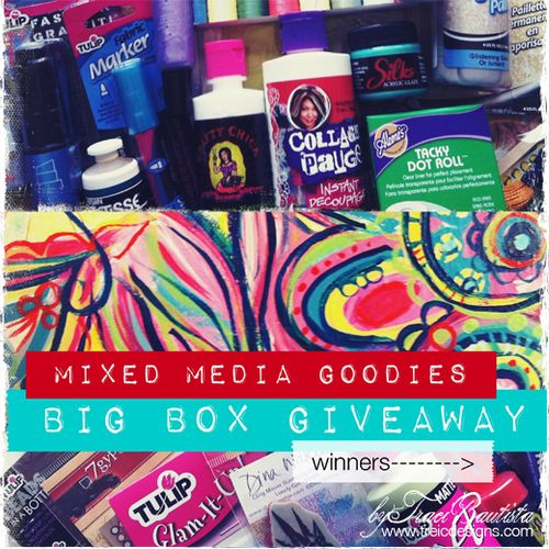 Mixed media giveaway winners by traci bautista