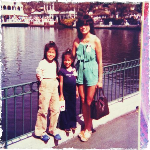 me, dude & mama at disneyland 1977