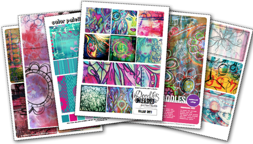 doodles unleashed digital art journaling kits by traci bautista