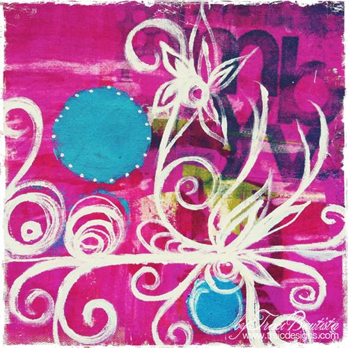 doodles unleashed painting on fabricby traci bautista