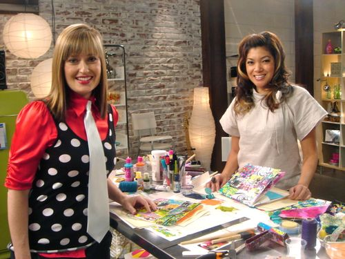 on set at She's Crafty!