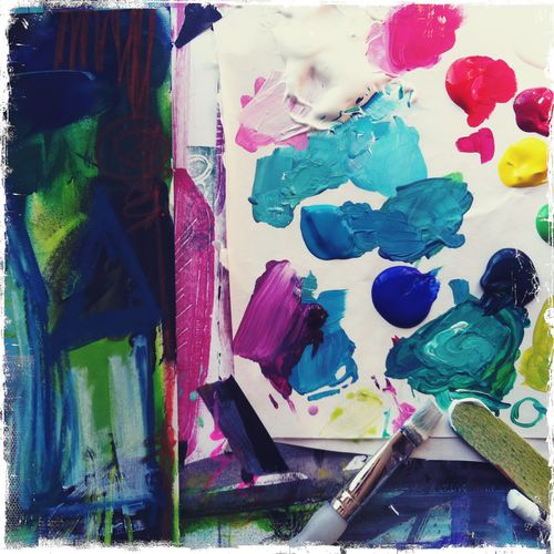 my palette of paint by traci bautista