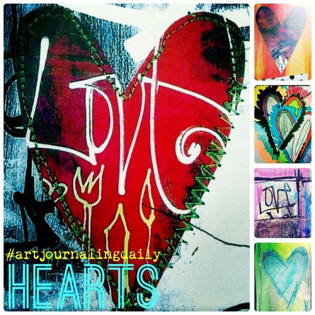 #artjournalingdaily: hearts