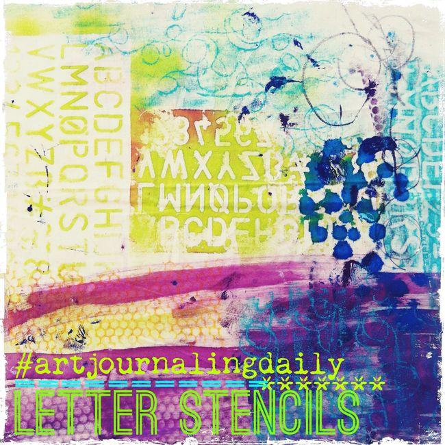 artJOURNALINGdaily_alphabet_stencils13_by traci bautista