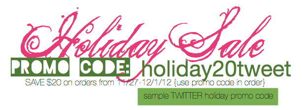 holiday promo sample graphic by traci bautista