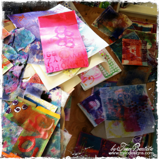 ColorJOURNALloveRetreat by Traci Bautista - printmaking pages by steffi